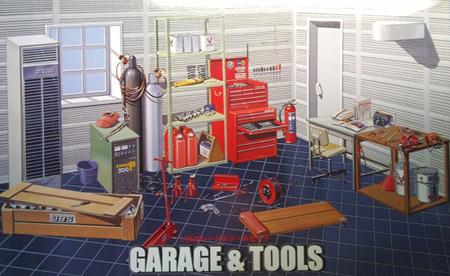 Byggmodell - Garage and Tool Set - 1:24 - FJ