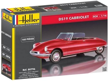 Byggmodell bil - Citro?DS 19 Cabriolet - 1:16 - HE