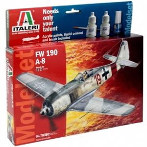 Byggmodell flygplan - Focke Wulf FW-190A-8 - 1:72 - IT