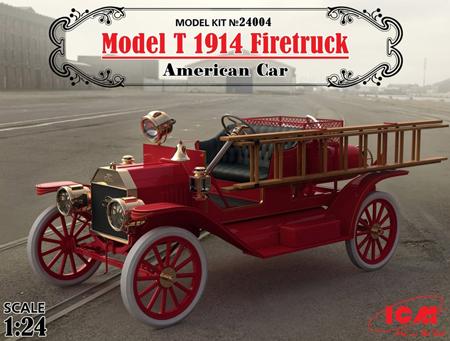 Bil byggmodell - Model T, 1914 Firetruck - 1:24 - ICM