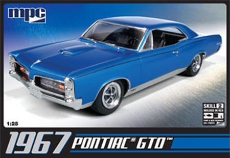 Byggmodell bil - Pontiac GTO 1967, inkl.engine - 1:25 - PCM
