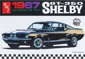 Byggmodell bil - 1967 Shelby GT350 - Dual color - 1:25 - Amt