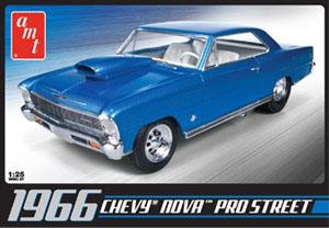 Byggmodell bil - Chevy Nova Pro Street 1966 - inkl.engine - 1:25