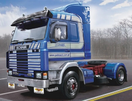 Byggmodell lastbil - Scania 143M TOPLINE 4x2 - 1:24 - IT