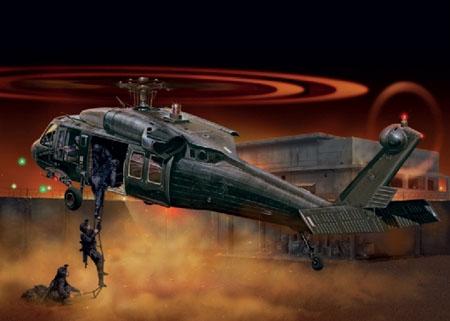 Byggmodell helikopter - UH-60A Black Hawk 'Night Raid' - 1:48 - IT