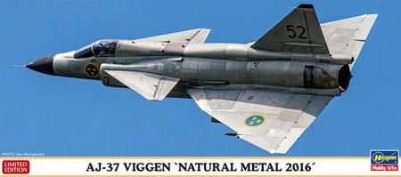 Byggmodell flygplan - AJ-37 Viggen Natural Metal - 1:72 - Hg