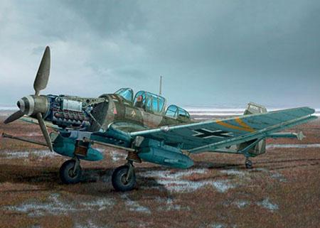 Byggmodell flygplan - JU 87 G-2 STUKA - 1:48 - IT