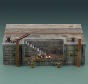 Byggmodell - Dock with stairs - 1:35 - IT
