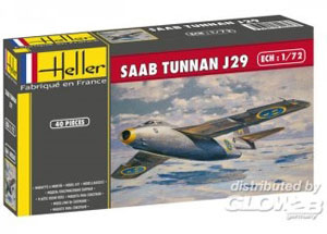 Byggmodell flygplan - SAAB J29 Tunnan - 1:72 - HE