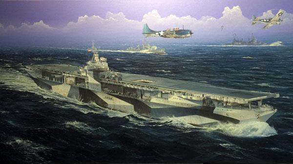Byggmodell krigsfartyg - USS Ranger CV-4 - 1:350 - Tr
