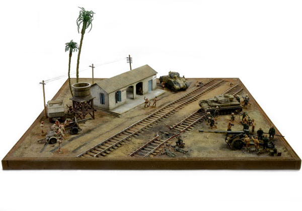 Byggmodell diorama - EL ALAMEIN Battle Railway - 1:72 - IT