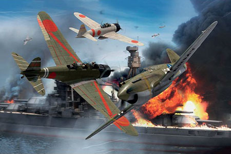Byggmodell flygplan - Pearl Harbor - 75Th Anniversary Gift Set - 1:72 - Airfix