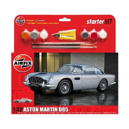 Byggmodell bil - Aston Martin DB5 - Silver - 1:32 - Airfix