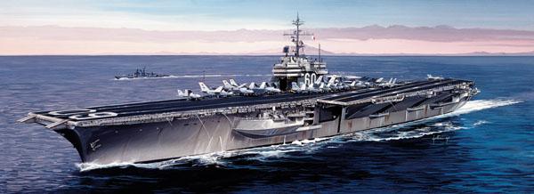 Byggmodell krigsfartyg - USS Saratoga CV-60 - 1:720 - IT
