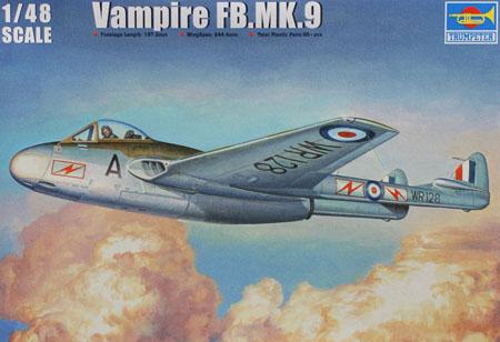 Byggmodell flygplan - Vampire FB.MK.9 J 28 SE decal - 1:48 - TR