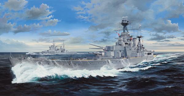Byggmodell krigsfartyg - HMS Hood L132 cm - 1:200 - TR