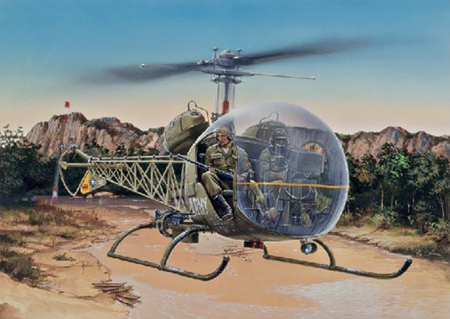 Byggmodell helikopter - Bell OH-13S Sioux - 1:48 - IT