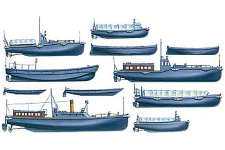 Byggmodell krigsfartyg -  IJN Utility boat Set - 1:350 - Tamiya