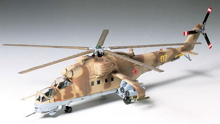 Byggmodell helikopter - Mil Mi-24 Hind - 1:72 - Tamiya