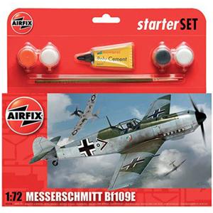 Byggmodell flygplan - Messerschmitt Bf109E-3 - Set - AirFix
