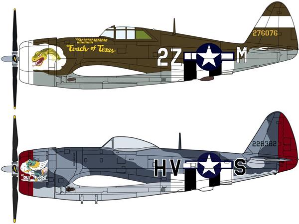 Modellflygplan - P-47D Thunderbolt Razorback/Bubbletop - 1:72 - Hg