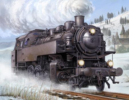 Byggmodell lok - Dampflokomotive BR86 - 1:35 - Tr
