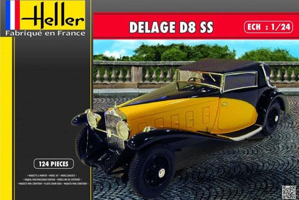 Byggmodell bil - Delage D8 SS - 1:24 - HE