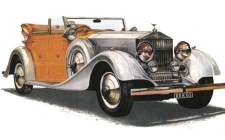 Byggmodell bil - Rolls Royce Phantom II - 1:24 - IT