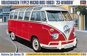 Byggmodell bil - Volkswagen Micro Bus Type 2, 1963 - 1:24 - Hg