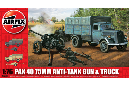 PAK 40 75mm Anti-Tank Gun & Truck - 1:76 - Airfix