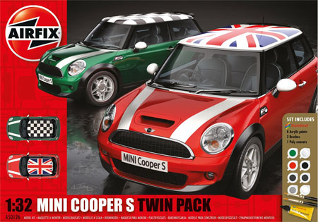 Byggmodell - MINI Cooper S Twin Pack - 1:32