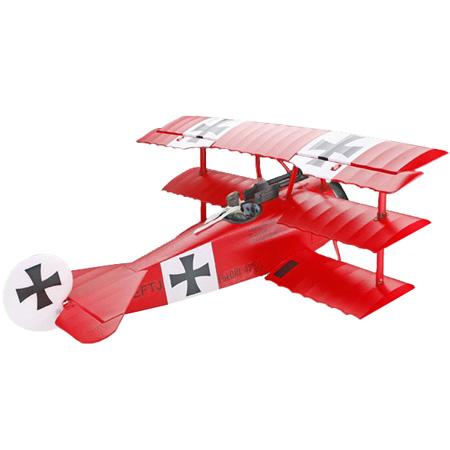 Flygplan - ArtTech Fokker Dr.1 BL 2,4GHz - Borstlöst paket - RTF