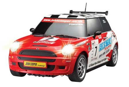 Radiostyrda bilar - 1:27 - Mini Cooper, inkl lyse & fjädring - Röd - RTR