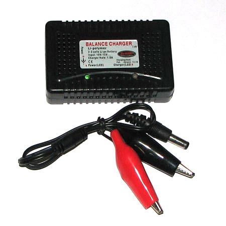 Batteriladdare - 7,4V-11,1V - LiPo, LiIon - Balansladdare - 2-3 Celler