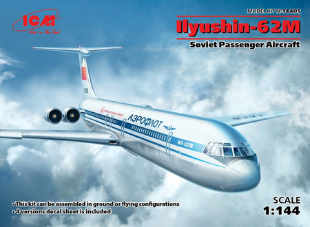Flygplansmodell - Ilyushin-62M, passenger aircraft - 1:144 - ICM