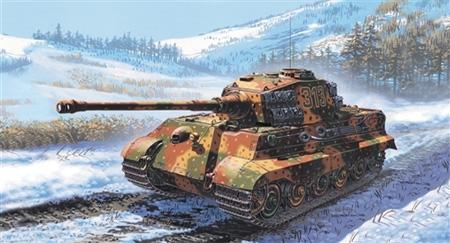 Byggmodell Stridsvagn - Sd.Kfz.182 King Tiger - Italeri - 1:72