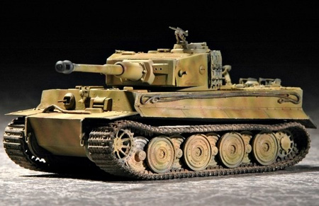Byggmodell Stridsvagn - Tiger I Late Production - Trumpeter - 1:72