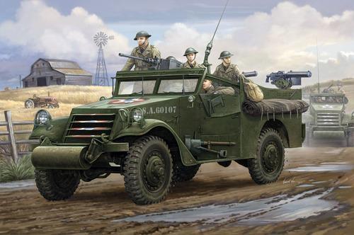 Modellbil - White Scout Car U.S.M2A1 FN i Kongo SE - HobbyBoss - 1:35