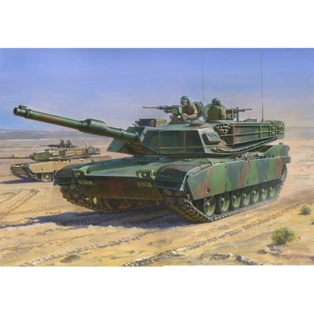 Byggsats Stridsvagn - M1A1 Abrams US Main Battle Tank - 1:100