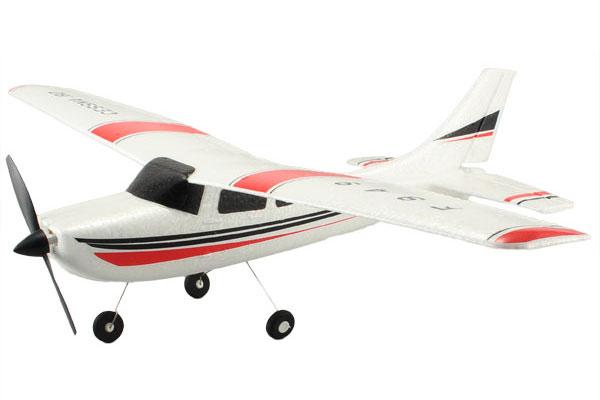 RC Flygplan - Cessna 182 -  2,4Ghz - 3ch -  WL - RTF