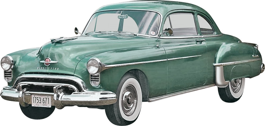 Byggmodell bilar - 50 OLDS COUPE 2N1 - 1:25 - MG