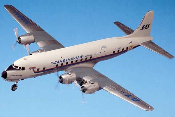 Flygplansmodell - SAS DC6 SUPER CLOUDMASTER SAS decals - 1:72 -H