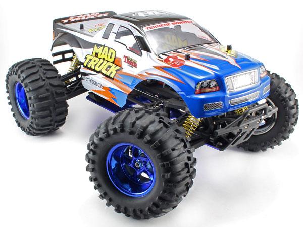 Radiostyrda bilar - 1:10 - Mad Truck 4wd - 2,4Ghz - RTR