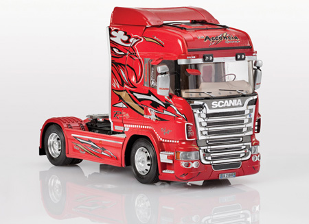 Byggmodeller Lastbil - Scania R560 Highline Red Griffin - 1:24 - Italeri