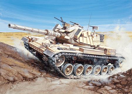 Byggsats Stridsvagn - M60 Blazer - 1:35 - Italeri