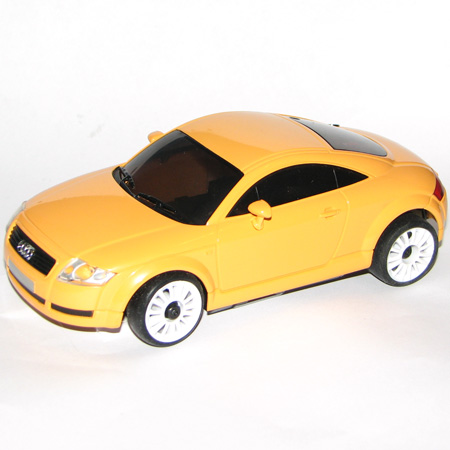 Radiostyrda bilar - 1:28 - Iwaver 02M Audi - 2,4Ghz - LCD - Gul - RTR