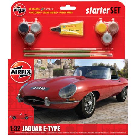 Byggmodell - Jaguar E-Type - Starter Set - 1:32