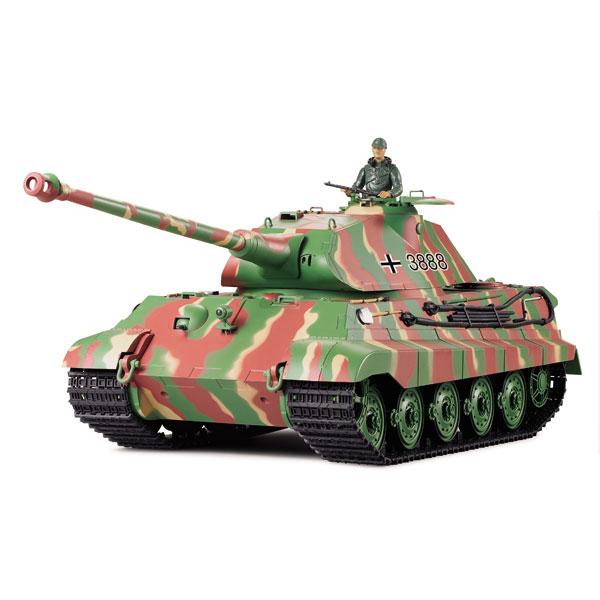 Radiostyrd stridsvagn - 1:16 - King Tiger Henschel Turret - METALL Upg. - 2,4Ghz - s.airg. rök & ljud - RTR