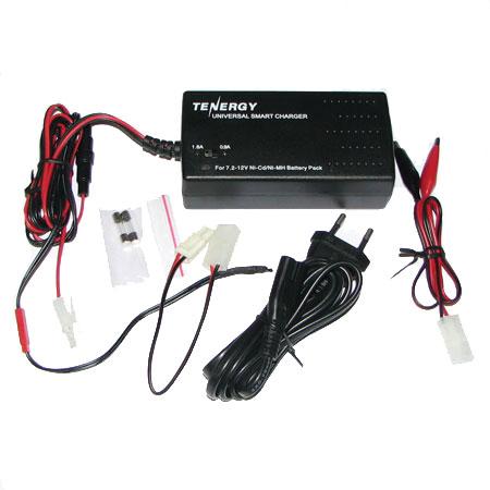 Automatisk batteriladdare - 7,2-12V - NiMh, NiCd 0,9A-1,8A