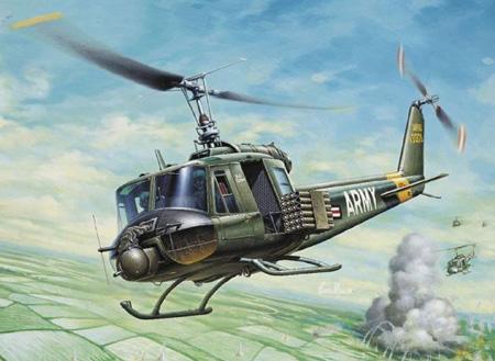 Modellhelikopter - UH-1B Huye Helicopter - Italeri - 1:72